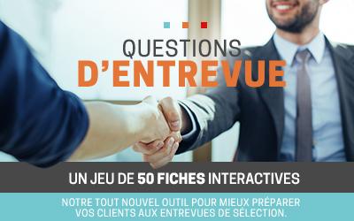 Questions d'entrevue, un jeu de 50 fiches interactives